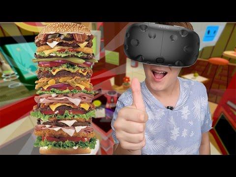 O MAIOR LANCHE EM REALIDADE VIRTUAL! Job Simulator HTC VIVE thumbnail