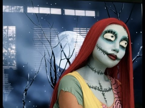 Sally (Nightmare Before Christmas)  Make-up Tutorial