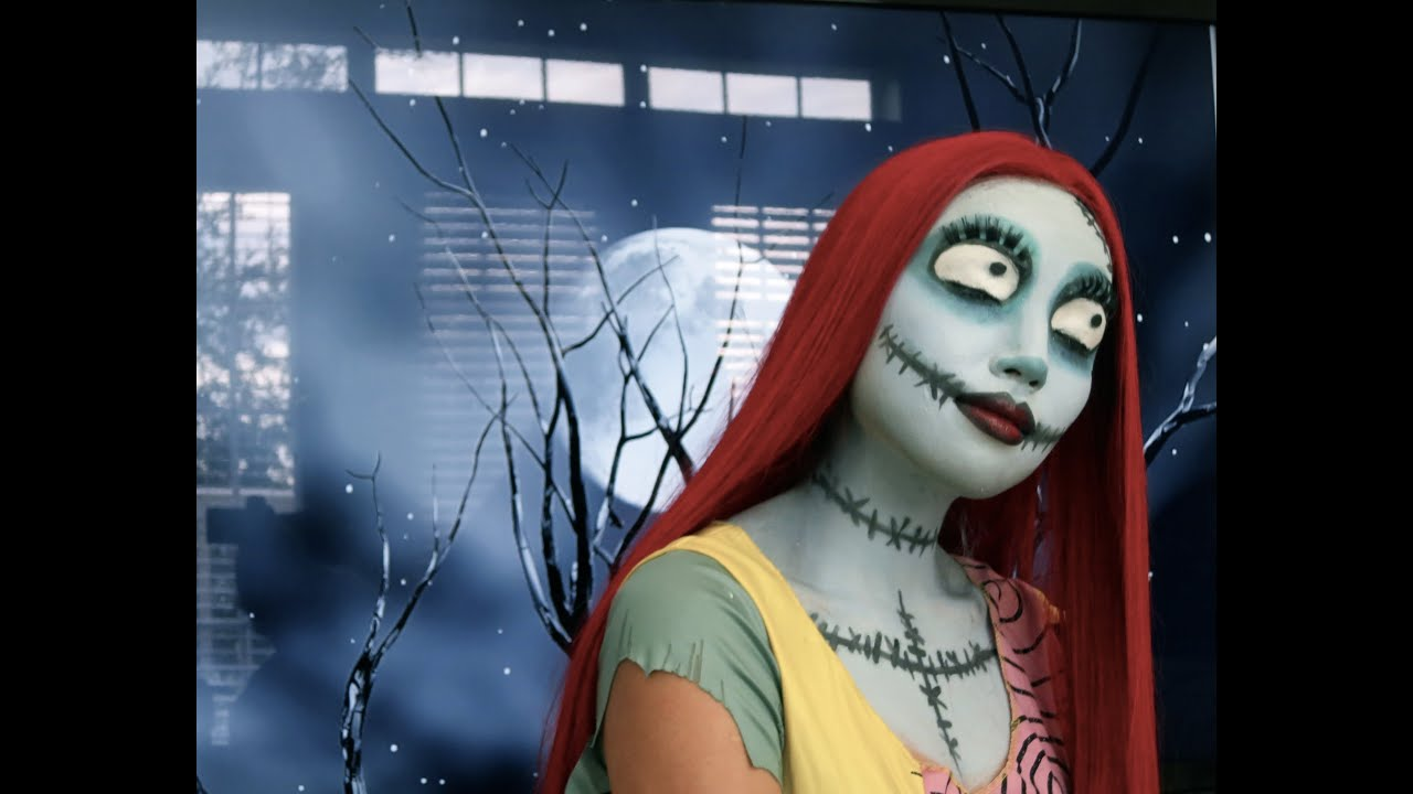 Sally (Nightmare Before Christmas) Make-up Tutorial - YouTube