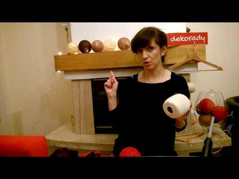 JAK ZROBIĆ ŚWIECĄCE KULE ... Cottonballs Lights... Dekoracja świąteczna :)