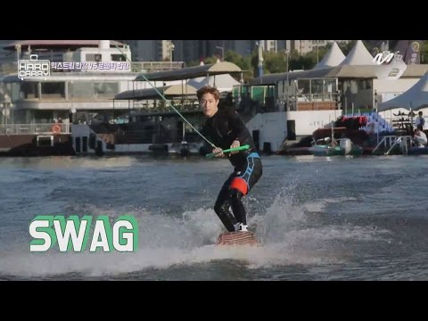[GOT7's Hard Carry] As beautiful as LA beach! Mark's Extreme sports in Seoul, Han River Ep.5 Part 8