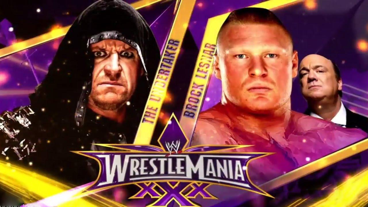 WWE WrestleMania 30 - Undertaker Vs Brock Lesnar (STREAK ...