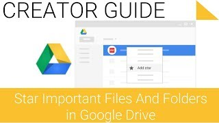 Star important files and folders with Google Drive on the Web