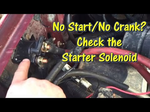Ford No Start/No Crank - Check the Starter Solenoid  @GettinJunkDone