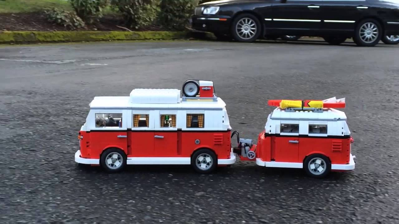 Lego Rc Vw Camper And Trailer Youtube