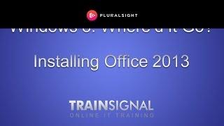 Installing Office 2013 on Windows 8