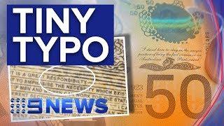 The spelling mistake on 46 million $50 notes | Nine News Australia