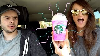 Trying The Starbucks 🦄 Unicorn Frappuccino! 🦄