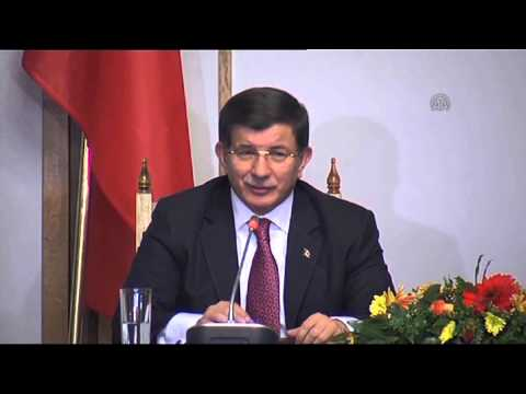 Turkish PM Ahmet Davutoglu in Bulgaria