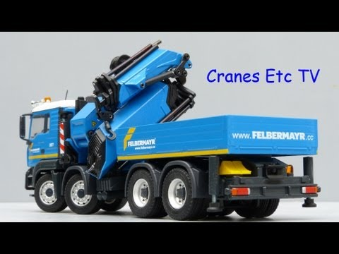 Conrad MAN TGA Palfinger PK100002 with Fly Jib 'Felbermayr' by Cranes Etc TV