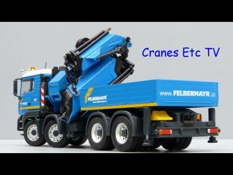 Conrad MAN TGA Palfinger PK100002 with Fly Jib 'Felbermayr' by Cranes Etc TV