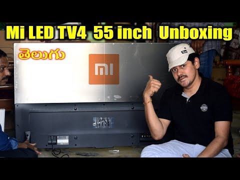 Mi LED TV4 Smart TV 55 inch Unboxing | in Telugu | Tech-Logic