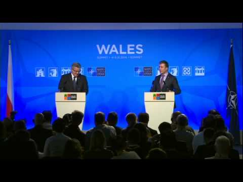 NATO Wales Summit - Announcement by Polish President, 05 SEP 2014
