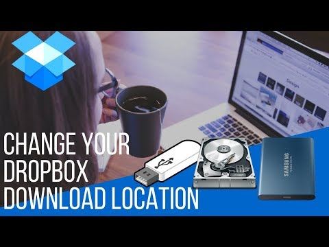 How to download from dropbox to an external hard drive