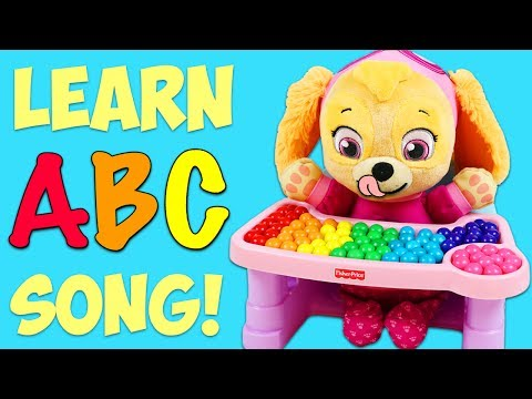 LEARN ABC Alphabet Song with Paw Patrol Ba Skye Learning Colors and ABCs for Children & Toddlers!