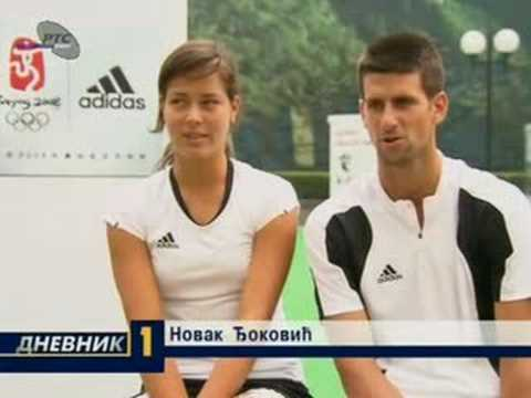 Ivanovic and Djokovic Beijing interview in serbian