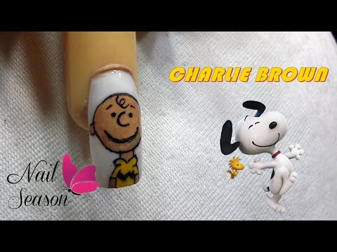 Uñas decoradas paso a paso faciles. Como hacer Charlie Brown Easy Nail Art 2015