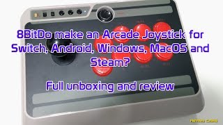 8BitDo N30 Bluetooth Arcade Joystick - Unboxing and Review - 4K