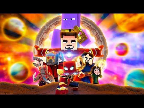 Minecraft. MENINO ARANHA. GUERRA INFINITA. O FILME
