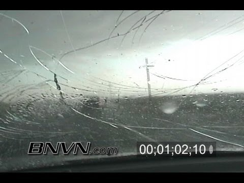 5/5/2006 Caught Out In The Seminole Texas Hail Storm Stock Footage