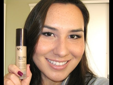 Boots No 7 Beautifully Matte Foundation Demo, Swatches and Review