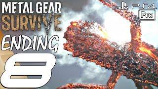 Metal Gear Survive - Gameplay Walkthrough Part 8 - Ending & Final Boss Fight (Full Game) PS4 PRO