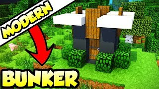 Minecraft ULTIMATE Modern Survival Bunker Tutorial (How to Build)