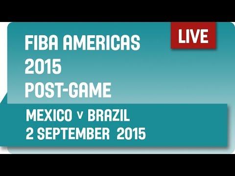 Post-Game: Mexico v Brazil - Group A -  2015 FIBA Americas Championship