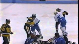 "Pittsburgh-Quebec Line Brawl 2/11/1989 ""LIVE"""