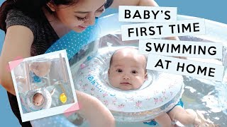 Download Lagu BABY XABIRU'S FIRST TIME SWIMMING AT HOME Gratis STAFABAND