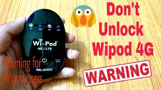 Reliance Wipod 4G users pay attention...⚠️