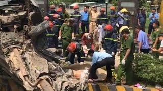 Cảnh lôi 4 nạn nhân tử vong trong xe ôtô tại Trảng Bàng Tây Ninh