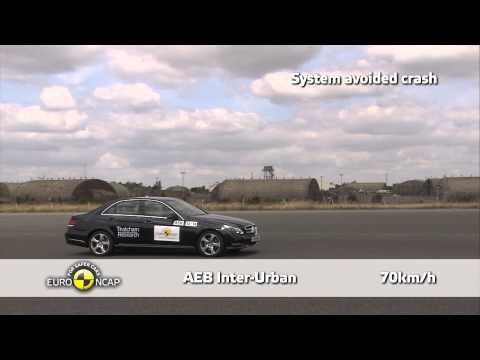 Mercedes Benz E Class - Euro NCAP 2013, тест системы автоматического торможения