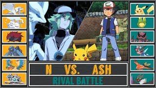 Ash vs. N (Pokémon Sun/Moon) - Unova Rival Battle