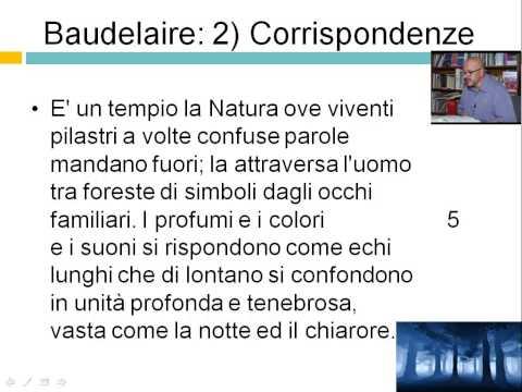 """Letteratura Italiana dell''800 - Baudelaire """"Corrispondenze"""""""