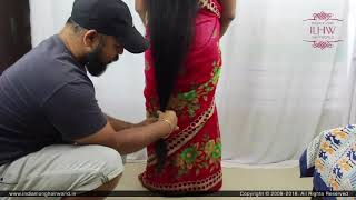 Deepa's Below Knee Length Extra Unwanted & Split End Hair Trimming Session By Male Hair Dresser