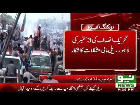 Lahore PTI Jalsay Ko Bara Khatra | Neo News