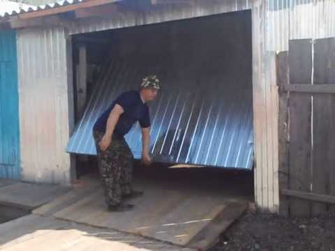 Ворота подъемные гаражные своими руками