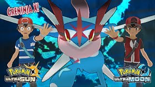 Pokemon Ultra Sun and Ultra Moon: Ash and Champion Ash Vs Dark Ash and Dark Hero (Greninja X)