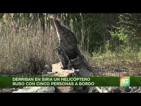 Derriban helicóptero ruso en Siria