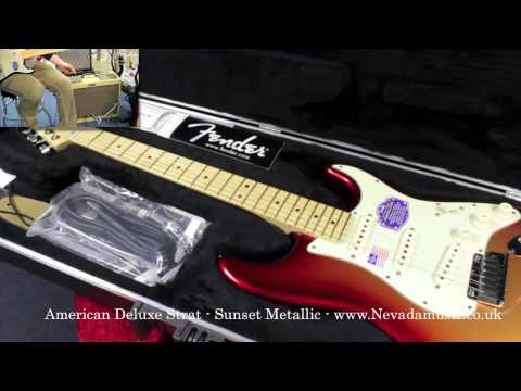 Fender 2010 American Deluxe Strat Sunset Metallic Nevada Music Uk