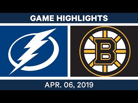 NHL Game Highlights | Lightning Vs. Bruins – April 06, 2019