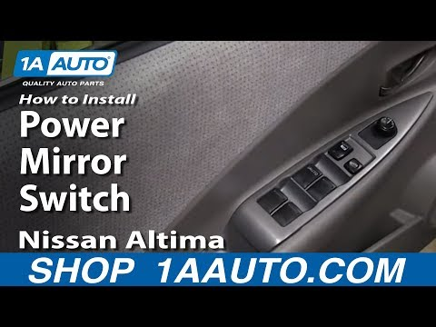 How To Install Replace Power Mirror Switch 2002-06 Nissan Altima