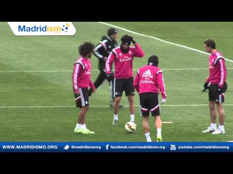 Real Madrid training ahead of Clasico