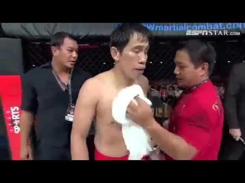 Старый врач с Филиппин жестко нокаутировал молодого кик-боксера !!!