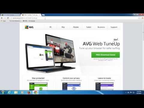 AVG Web TuneUp - Browser Security Extension Walkthrough