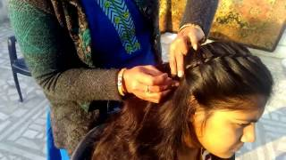 Simple Hairstyle For Party | Medium Hair to Long Hairs - Waterfall Hairstyle 2017