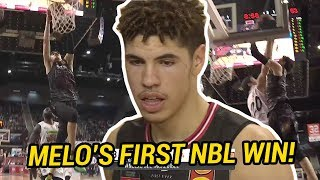 LaMelo Ball Battles With Top Australian PG Scotty Machado! Comes Up CLUTCH In First NBL DUB 💰