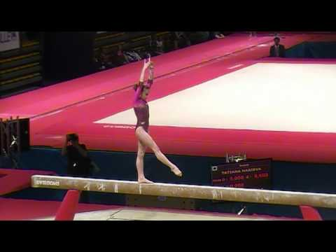 Anastasia Grishina of RUS on BB at Massilia Cup 2011