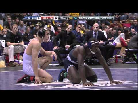 Ed Ruth vs Nick Heflin (174) - 2011 Big Ten Wrestling Championship